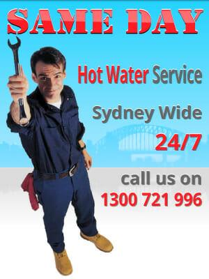 same day hot water service Sydney wide