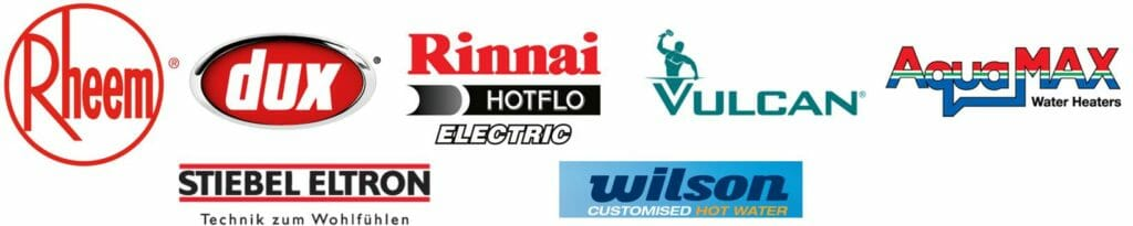 Electric hot water system logos