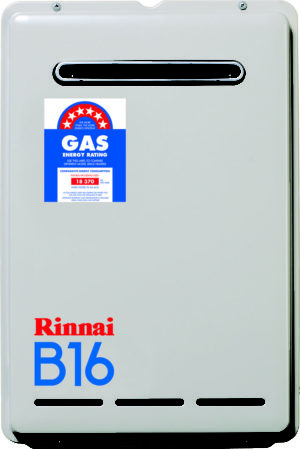 16L Rinnai Continuous Flow Hot Water Systems