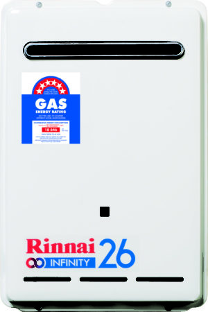 Rinnai Infinity 26L Continuous Flow Hot water heater