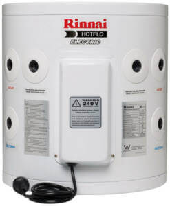 Rinnai Electric Hotflo 25L with optional plug