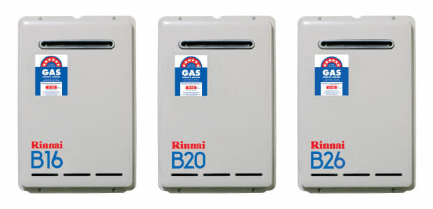 Rinnai B16, Rinnai B20, and Rinnai B26