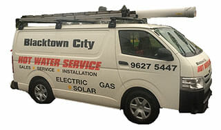 Blacktown City Hot Water Service van
